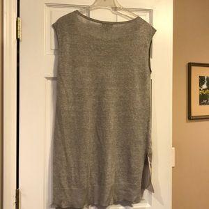 Eileen Fisher Tops - Eileen Fisher Sleeveless Grey Knit Top